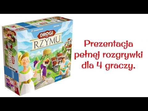 Drogi do Rzymu - Gra Planszowa - Nagranie Pełnej Rozgrywki - 4 graczy.