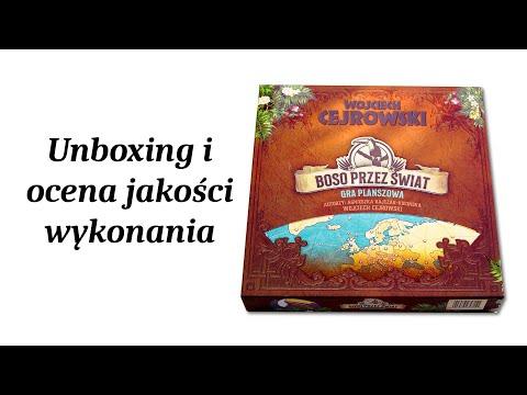 Boso Przez Świat - Gra Planszowa - Unboxing i Ocena Jakości Wykonania